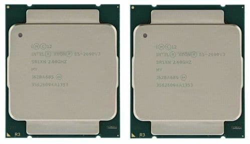 2 x Intel Xeon E5-2690v3 2.6GHz 12-Core 30MB 9.6GT/s SR1XN Server CPU Processor